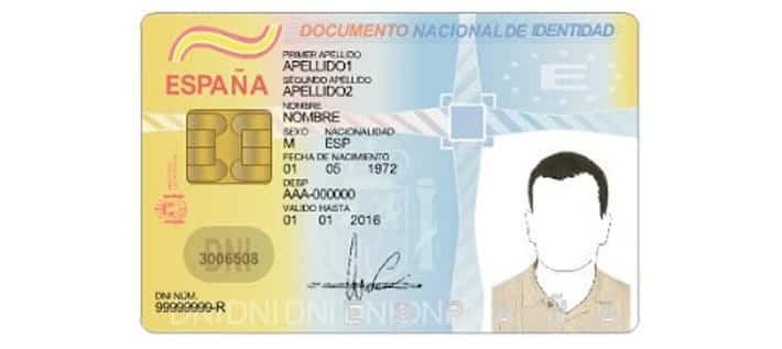DNI DOCUMENTO NACIONAL DE IDENTIDAD