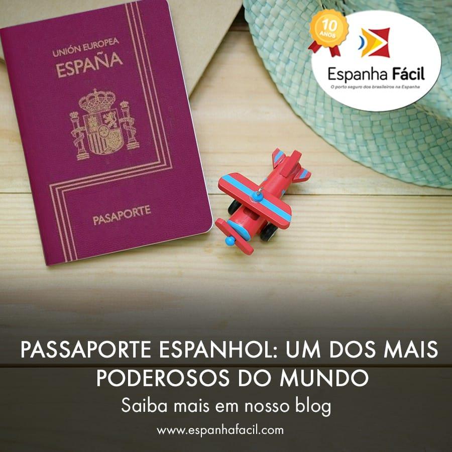 Passaporte Espanhol- um dos mais poderosos do mundo