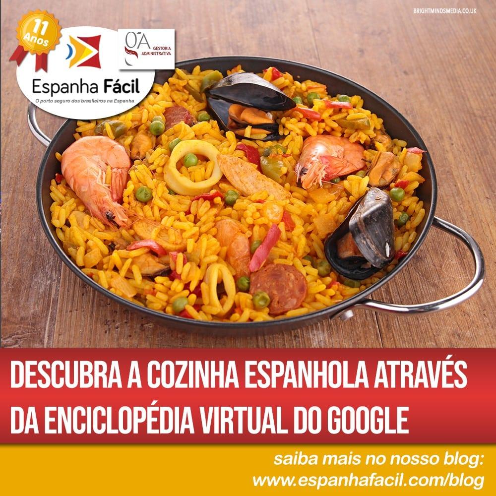Descubra a cozinha espanhola através da enciclopédia virtual do Google