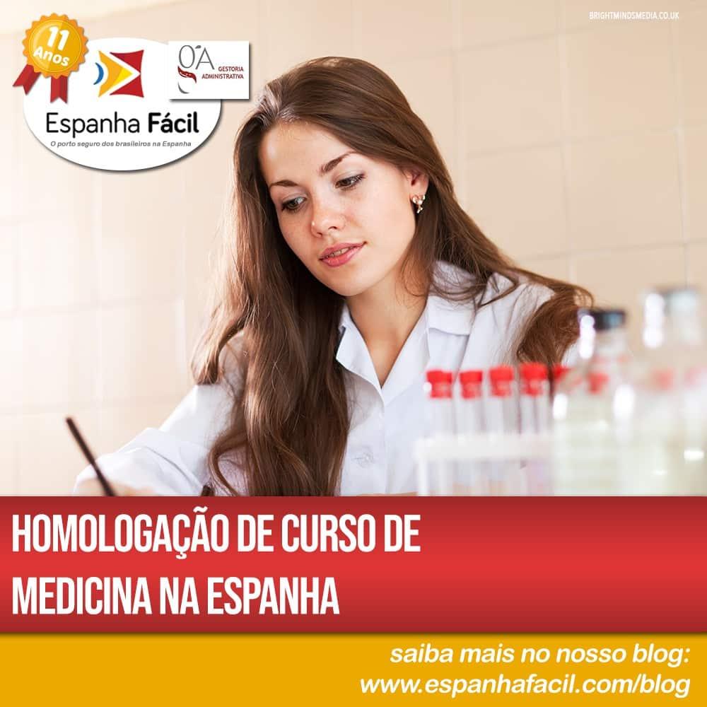 Homologação de curso de medicina na Espanha