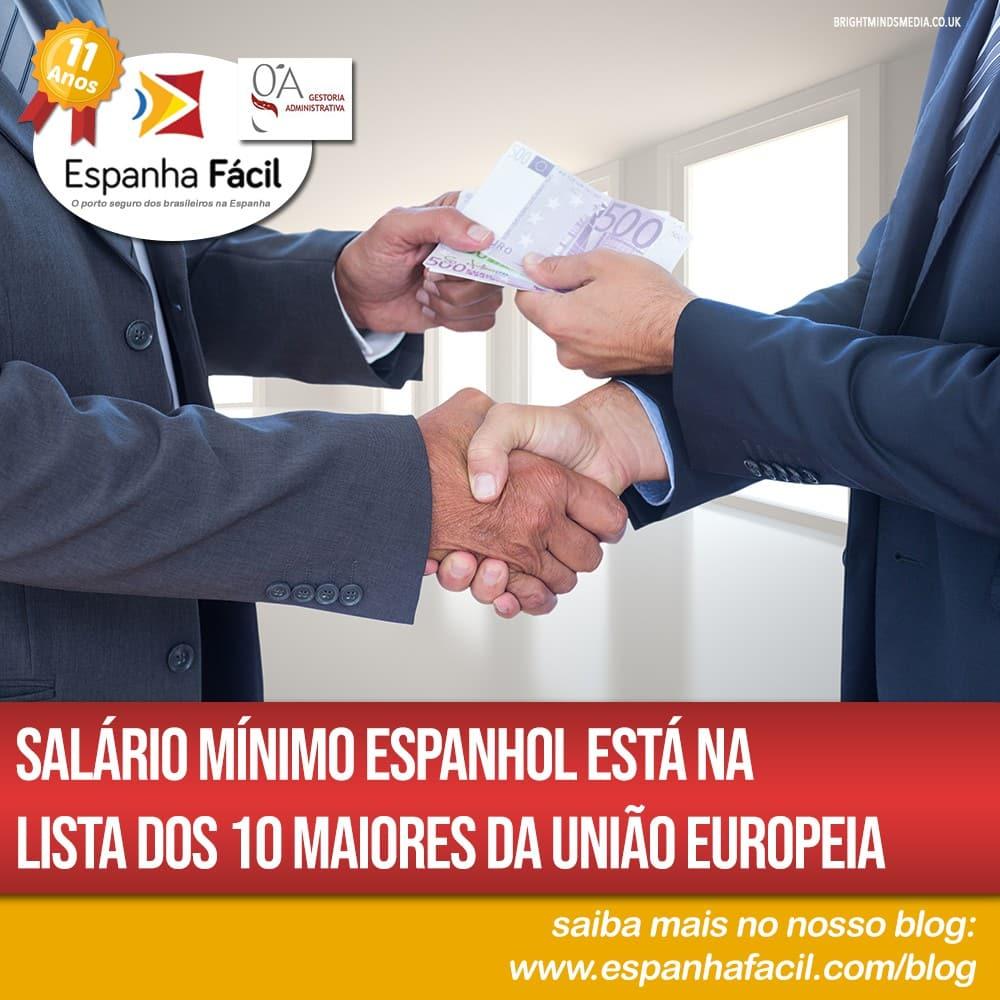 Salário mínimo espanhol está na lista dos 10 maiores da União Europeia