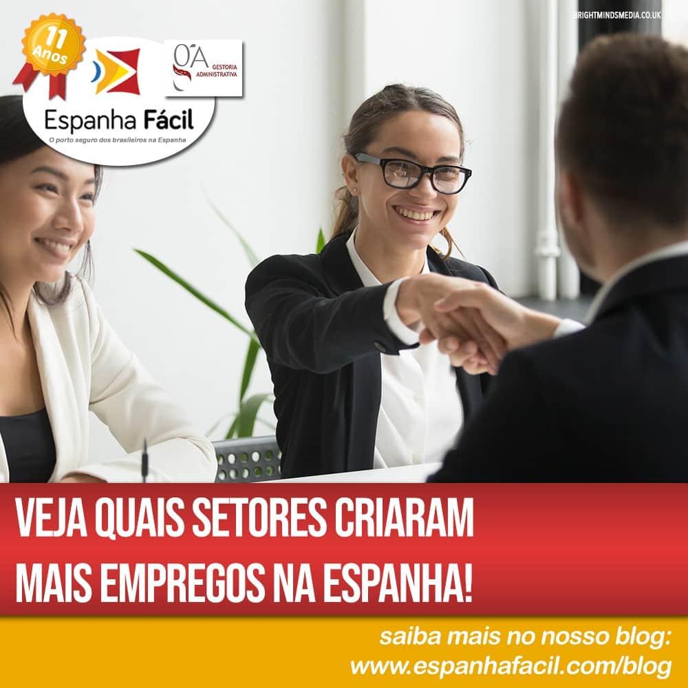 Veja quais setores criaram mais empregos na Espanha!