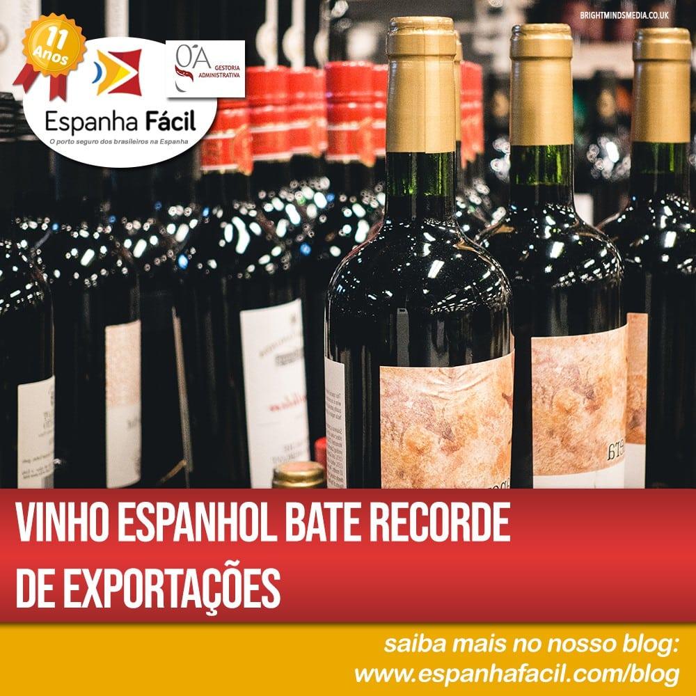 Vinho espanhol bate recorde de exportações