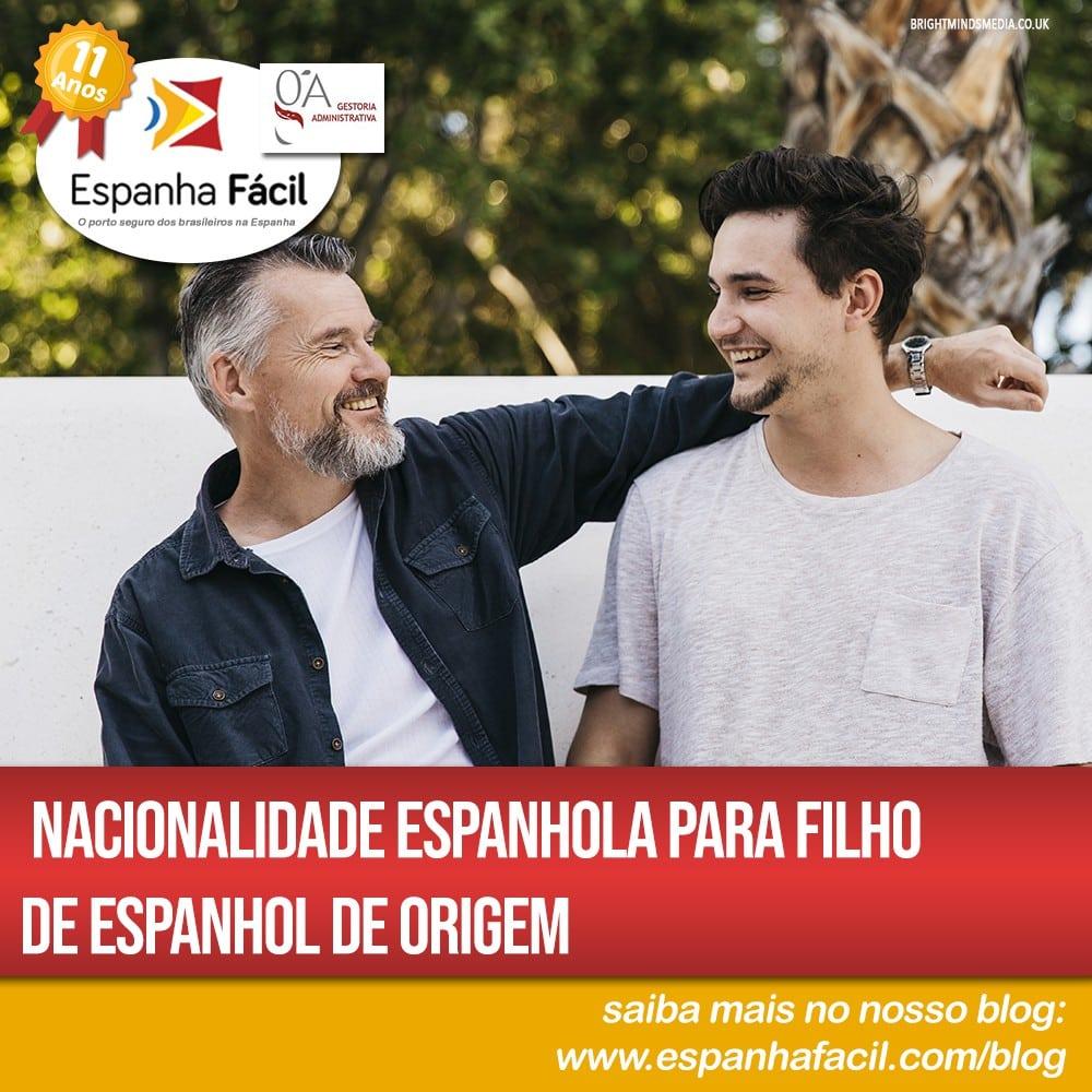 Nacionalidade espanhola para filho