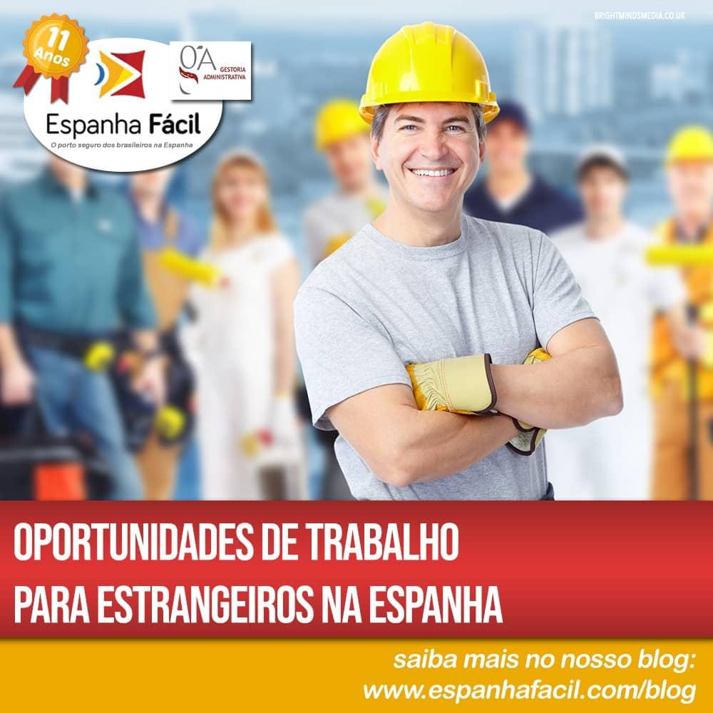 Oportunidades de trabalho para estrangeiros na Espanha