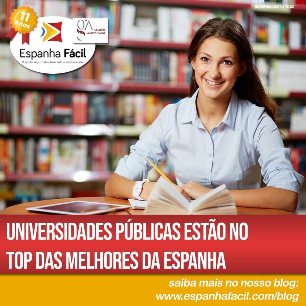 Universidades Públicas estão no top das melhores da Espanha