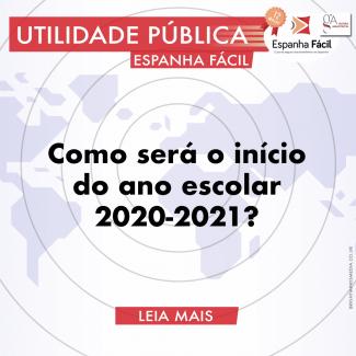 Como será o ano escolar 2021 na Espanha?
